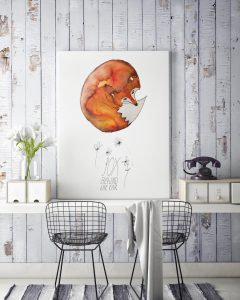 Fox behind the ear poster