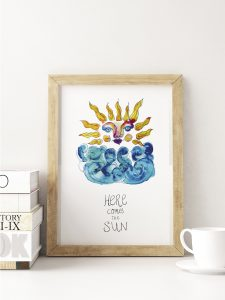 Here comes the sun poster